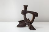 Black Sculpture 1989. Black Clay. 14cm high. 17cm long
