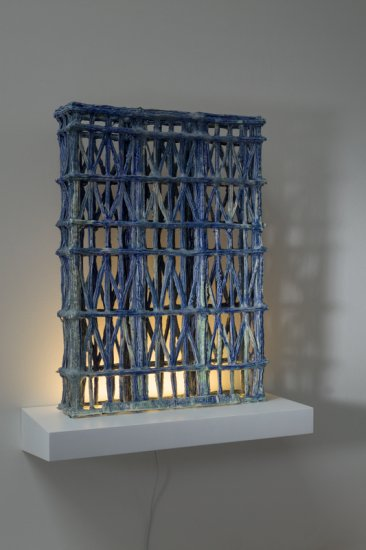 Blue Grid 2014. 49cm high